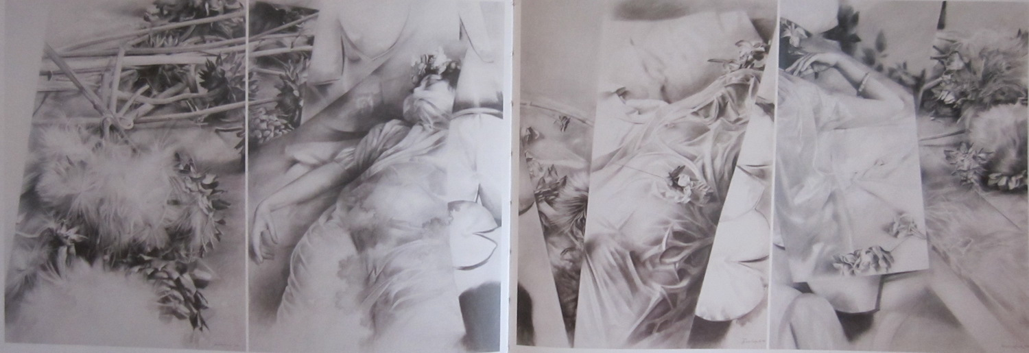 Drawing in four parts (400 cm x 140 cm)