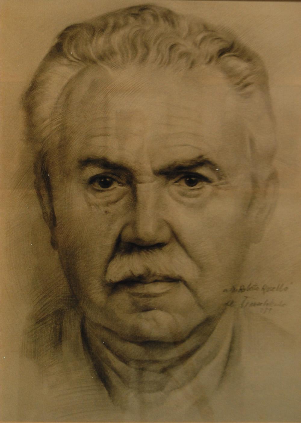 Retrato individual a lápiz