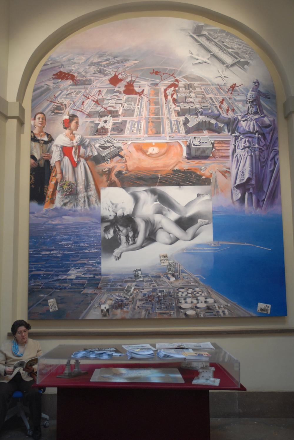 La UJI, junto a las pinturas rupestres y otros elementos relacionados con el desarrollo de la provincia protagonizan este mural