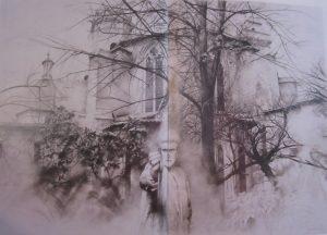 abside-dibujo-grafito-diptico-traver-calzada
