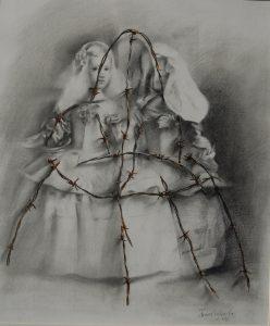 Menina-con-espino2-dibujo-grafito-Traver-Calzada