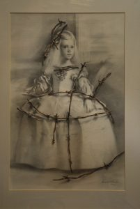 Meninas-con-espino-dibujo-grafito-Traver-Calzada