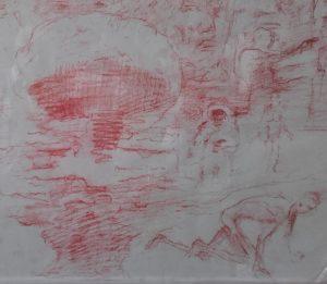 Detalle-Mural siglo-bomba atomica-astronauta-Traver-Calzada