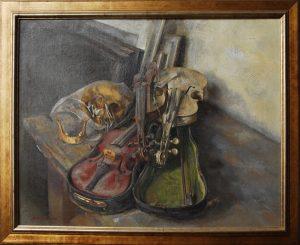 Calavera con violines TRAVER CALZADA